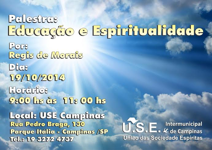Palestra: Educação e Espiritualidade