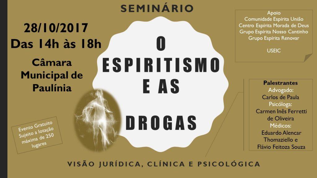 Seminário: O Espiritismo e as Drogras